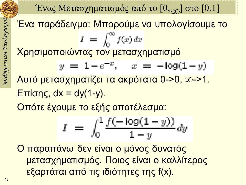 Ένας Μετασχηματισμός από το [0, ] στο [0,1]